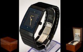 Rado Gents Diastar Black Ceramic Wristwatch Numbered to case 193.0324.3.