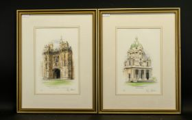 Four Framed Limited Edition Prints All By M. Gill Banks.