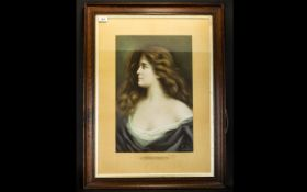 Late 19th/Early 20th Century Framed Print 'A Queen Uncrowned' After The Original by Antonio Asti
