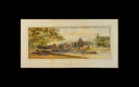 George Howse (1800-1860) Watercolour On Paper Signed to lower left, dated 1856.