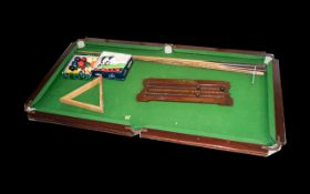 Antique Table Top Pool Table By E.
