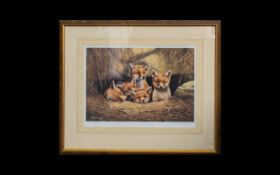 Natural History Interest - Limited Edition Artist Signed Print By Adrian C Rigby 'Patiently