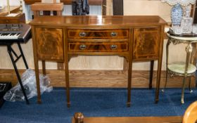 Late 20thC Mahogany Sideboard, Comprising two central drawers between two cupboards,