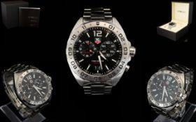 Tag Heuer - Gents Formula 1 Steel Black Dial Chronograph Wrist Watch.