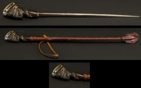 African Riding Crop With Concealed Dagg