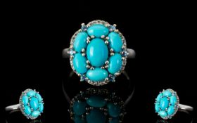 Sleeping Beauty Mine Turquoise Cluster R