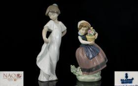 Lladro Handpainted Porcelain Figures. C