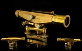 Lacquered Brass Surveyors Level Marked t