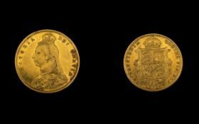 Queen Victoria Superb 22ct Gold Shield B