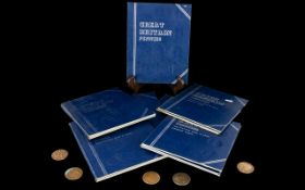 Collection Of Great Britain Coin Folders
