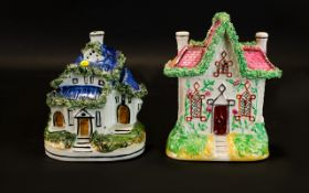 Two Small Victorian Flat Back Cottages -