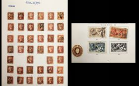 Stanley Gibbons Four Ring Album with sev