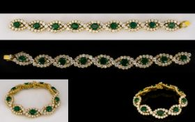 Emerald And Diamond Bracelet, articulate