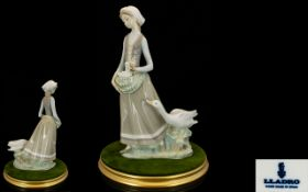 Lladro Large Porcelain Figure 'Girl with