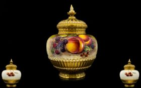 Royal Worcester Superb Quality - Hand Pa