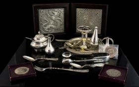 A collection Of Silver Plated Items To i
