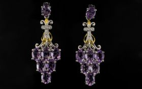 Rose de France Amethyst Chandelier Drop