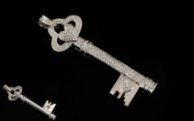 18ct White Gold Bezel Set ' Key ' to You