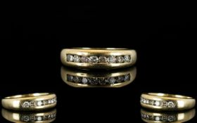 9ct Gold Diamond Eternity Ring Eight mod