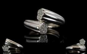 18ct White Gold Diamond Ring Of torque d
