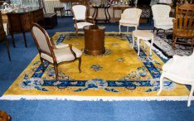 A Very Large Oriental Wool Rug Ochre gro