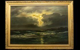 A Beardsley (20th Century) Moonlit Seasc