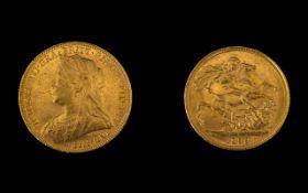 Queen Victoria - Superb Old Head 22ct Go
