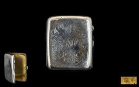 Ladies 1920's - Small Silver Cigarette C