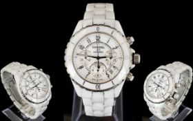 Chanel Ceramic J12 Wristwatch chronogra