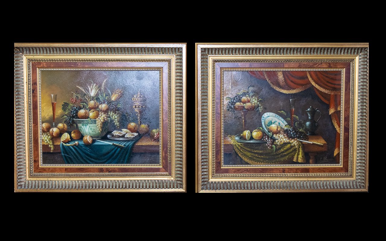Lot 928 - Spanish Oil Paintings By L. Blanco Two i