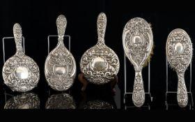 Embossed Silver Backed Vanity Items Five