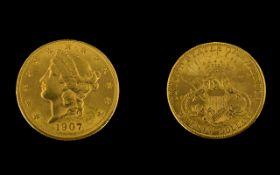 United States Liberty Head 22ct Gold 20