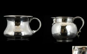 1930's Small Silver Milk Jug of Solid Co