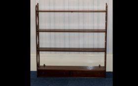 Mahogany Shelf Unit Rack - comprising th
