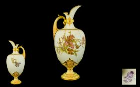 Royal Worcester Superb Hand Painted Pers