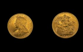 Queen Victoria 22ct Gold - Old Head Full