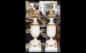 A Pair Of Neoclassical Style Lamp Bases