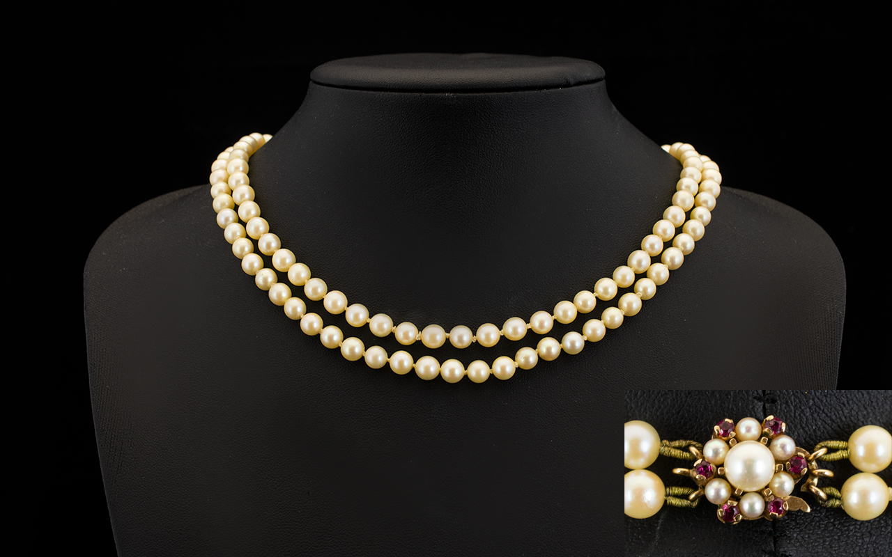 Lot 87 - Ladies Superb Quality Double Strand Cult