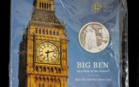United Kingdom Fine Silver Big Ben £100.