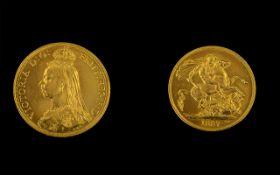Queen Victoria 22ct Gold Jubilee Head Tw