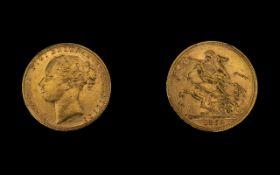 Queen Victoria 22ct Gold - Young Head Fu