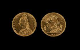 Queen Victoria Superb - 22ct Gold Jubile