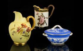 Royal Worcester Jug Hand painted floral