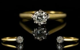 18ct Gold And Diamond Set Dress Ring - I
