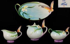 Franz Fine Porcelain Handpainted 4-Piece