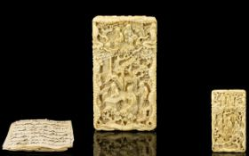 Chinese Early 19th Century Carved Ivory