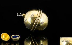Mappin & Webb Silver Christmas Bauble Ri