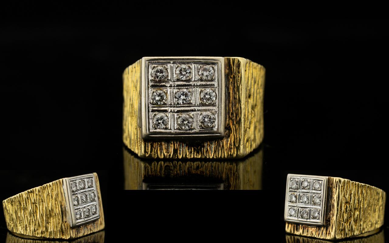Lot 71 - 18ct Yellow Gold Gentleman's Diamond Set