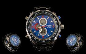 Globenfeld Jet master Ltd Edition Gents Sports Watch. Model No 9101B.