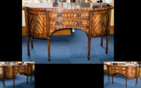 A Rackstraw Sideboard - Solid Mahogany Top And Cross Banding With Line Inlay. Height 91cm.